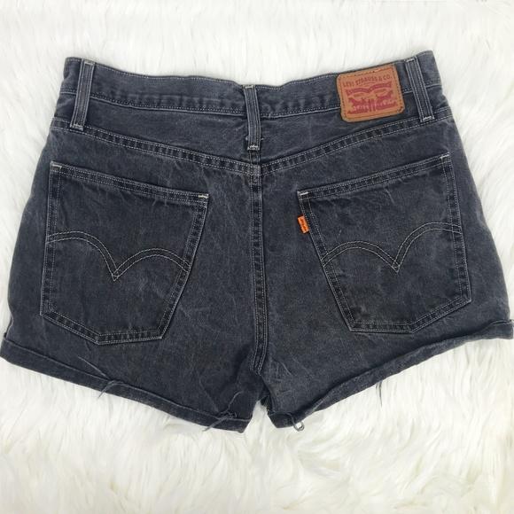 9ca1a554 Levi's Shorts | Levis High Rise Wedgie Fit In Black Denim | Poshmark